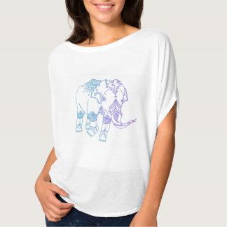Two-Tone Embellished Elephant T-Shirt