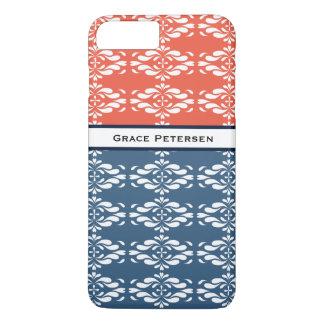 Two Tone Floral iPhone 8 Plus/7 Plus Case