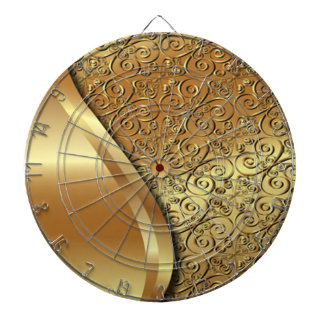 Two tone gold plated texture with a gold butterfly dart board
