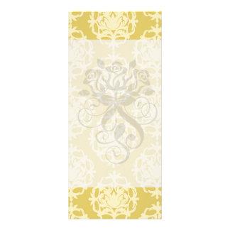 two tone gold royale damask pattern customized rack card