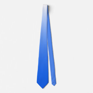 Two-tone gradient ombre electric blue tie