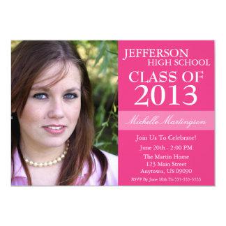 Two-Tone Graduation Invitations (Dark Pink)