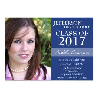 Two-Tone Graduation Invitations (Navy Blue)