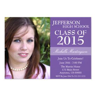 Two-Tone Graduation Invitations (Plum Purple)