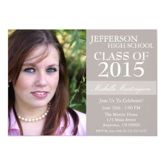 "Two-Tone Graduation Invitations (Sand) 5"" X 7"" Invitation Card"