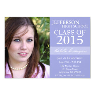 Two-Tone Graduation Invitations (Violet Purple)