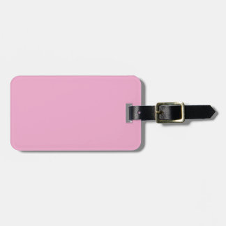 Two-Tone Gray & Pink Luggage Tag