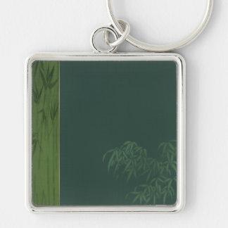 Two Tone Green Bamboo Keychain