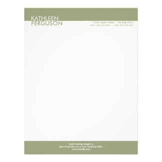 Two tone green block border professional business letterhead