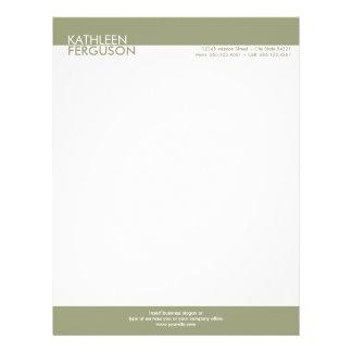 Two tone green block border professional business letterhead