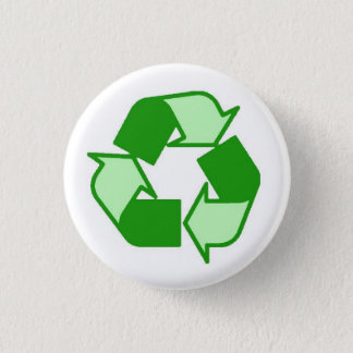Two Tone Green on White Recycle button