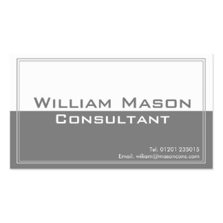 Two Tone Grey White Professional Business Card