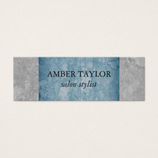 Two Tone Grunge Texture Mini Business Card