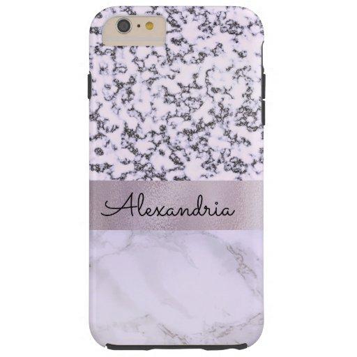 Two Tone Lavender Marble    Tough iPhone 6 Plus Case