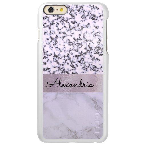Two Tone Lavender Marble   Incipio Feather Shine iPhone 6 Plus Case