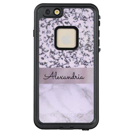 Two Tone Lavender Marble LifeProof FRĒ iPhone 6/6s Plus Case