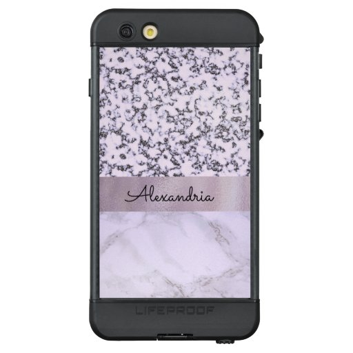 Two Tone Lavender Marble  lifeproof nuud iphone 6s