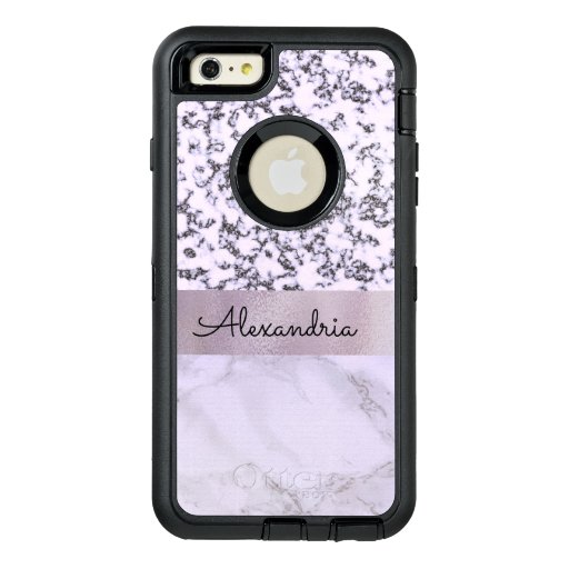 Two Tone Lavender Marble  OtterBox Defender iPhone Case
