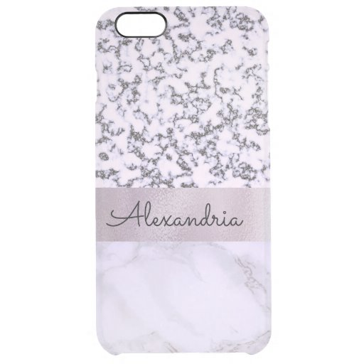 Two Tone Lavender Marble   Clear iPhone 6 Plus Case