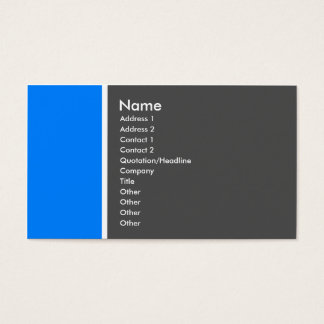 Two Tone (Mid-Blue and Gray) - Customized Business Card