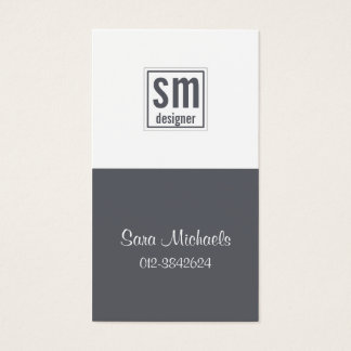 Two Tone Monogram Business Card