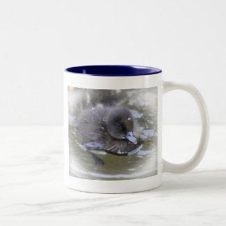 Two Tone Mug: Black Duckling Two-Tone Coffee Mug
