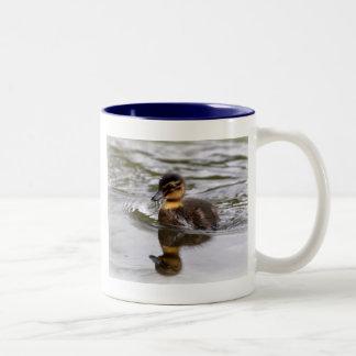 Two Tone Mug: Mallard Duckling Two-Tone Coffee Mug