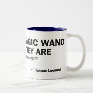 Two-tone mug - 'People who wait for a magic...'