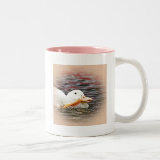 Two Tone Mug: White Duckling Two-Tone Coffee Mug