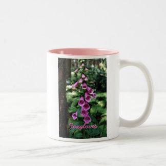 Two-Tone Mug with Foxglove Design