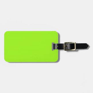 Two-Tone Neon Green & Purple Luggage Tag