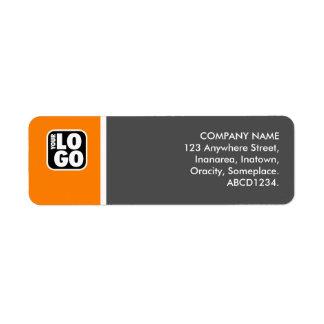Two Tone - Orange and Gray Label