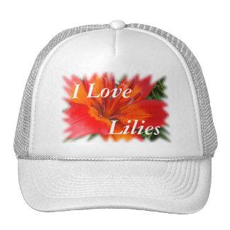Two Tone Orange Lily Cap-customize Trucker Hat