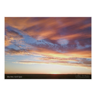 Two Tone Pastel Clouds Poster