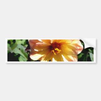 Two Tone Peach Dahlia-PhotoMagic Bumper Sticker