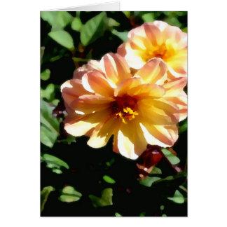 Two Tone Peach Dahlia-PhotoMagic Card