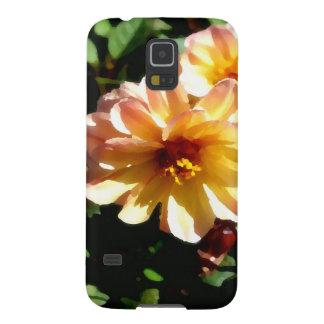 Two Tone Peach Dahlia-PhotoMagic Case For Galaxy S5