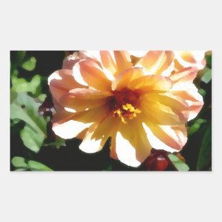 Two Tone Peach Dahlia-PhotoMagic Rectangular Sticker