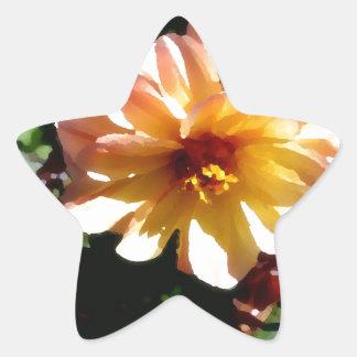 Two Tone Peach Dahlia-PhotoMagic Star Sticker