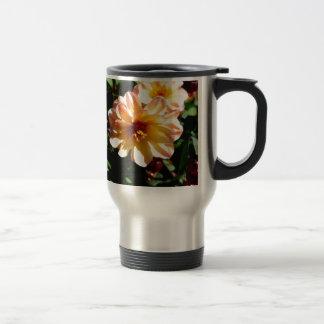 Two Tone Peach Dahlia-PhotoMagic Travel Mug