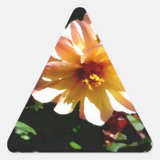 Two Tone Peach Dahlia-PhotoMagic Triangle Sticker