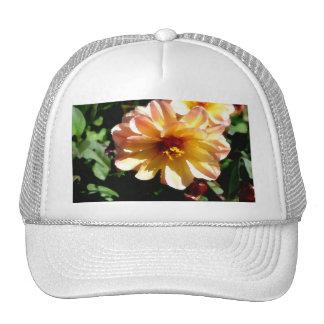 Two Tone Peach Dahlia-PhotoMagic Trucker Hat