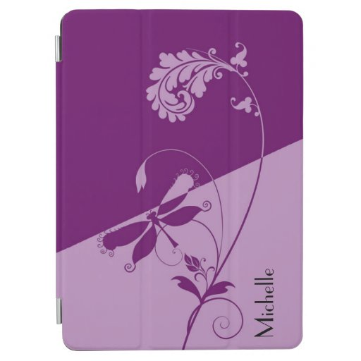Two Tone Purple and Lilac Floral Swirls iPad Air Cover