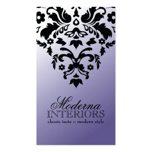 Two Tone Purple Damask Business Card