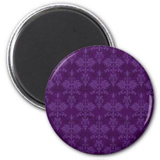 Two Tone Purple Damask Magnet