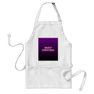 Two Tone Purple Merry Christmas Adult Apron