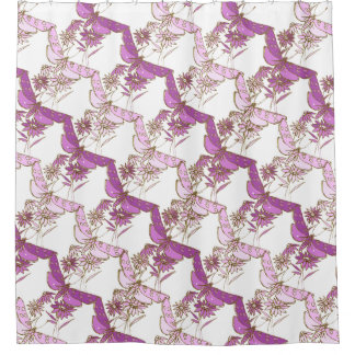 Two-tone purple, Pink and Gold Shower Curtain