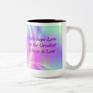 Two Tone Rainbow Faith Mug