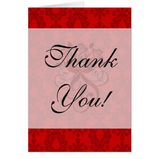 two tone red damask card