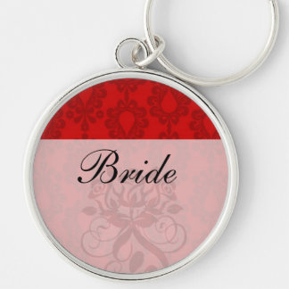 two tone red damask keychain